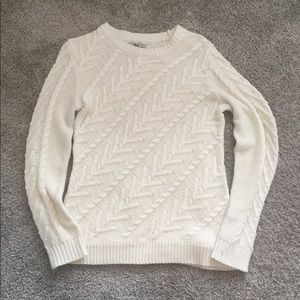 Cable Cream Sweater